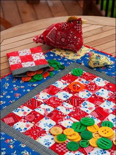 T.G.I.F! With the weekend just around the corner, how about a checkerboard quilt that the whole family will enjoy? From the Hoe Down collection by Kaye England for Wilmington Prints and a past issue of our annual Quilt Almanac.