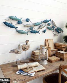 Pannelli Decorativi per Pareti con Pesci, realizzati in metallo, perfetti per arredare la tua casa in Stile Marinaro.