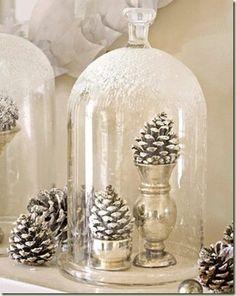 Snow cone under cloche.