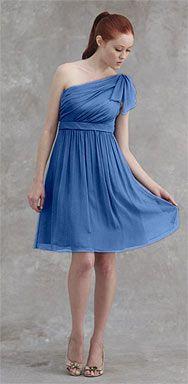 Jenny Yoo Collection -- KENZIE #1202 -- Silk Crinkle Chiffon in Baltic Blue -- $275