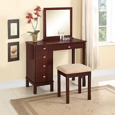Linon Home Julia Vanity Set