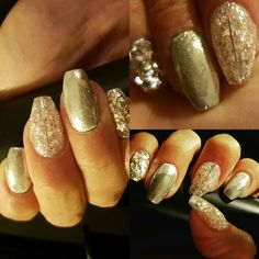 Chroom silver nails with lotsssss of glitterzzzz.. love it