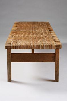 Bench/table designed by Börge Mogensen for Fredericia Stolefabrik, Denmark. 1950's.