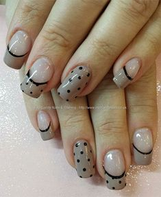 15-Cute-Polka-Dot-French-Nail-Art-Designs-Ideas-Trends-2014-2.jpg (350×427)