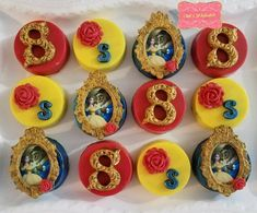 Beauty and the beast Chocolate covered Oreo's, Disney princess Belle birthday goodies Beauty And The Beast Wedding Theme, Beauty And Beast Birthday, Fairy Berries, Oreos, Chocolate Covered Treats, Disney Princess Belle, Kinds Of Cookies, Belgian Chocolate, 4th Birthday Parties