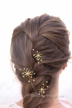 Accessories vintage Wedding Hair Pins Star Flower and Champagne Pearl Bridal Hair Pin Set, Brass Flower Bobbie Pins Hair Jewelry Beaded Headpiece Vintage Wedding Hair, Wedding Hair Pins, Headpiece Wedding, Star Wedding, Wedding Hairs, Wedding Vows, Wedding Rings, Wedding Ideas, Floral Vintage