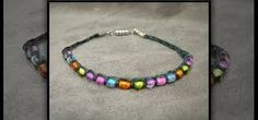 Image result for macrame jewelry with pearls