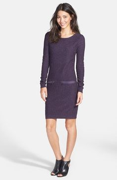 Marc New York by Andrew Marc Zip Accent Sweater Dress | Nordstrom