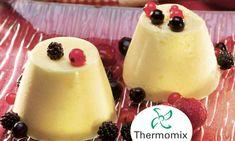 Receta de Pannacotta de melocotón y frutos rojos para Thermomix