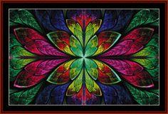 Fractal 554 cross stitch pattern byCross Stitch Collectibles