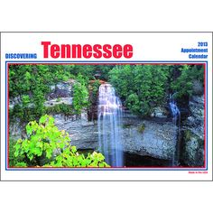 Discovering Tennessee Wall Calendar: This wall calendar features 12 different scenic views of the State of Tennessee, with informational text under each picture. The perfect way to discover Tennessee!  http://www.calendars.com/Tennessee/Discovering-Tennessee-2013-Wall-Calendar/prod201300018009/?categoryId=cat00890=cat00890