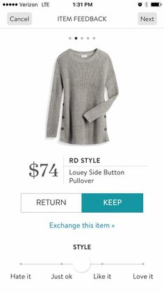 RD Style Louey side button pullover #stitchfix