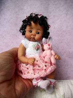"""❤OOAK HAND SCULPTED  A/A BABY GIRL """"LASHAE""""   BY: JONI INLOW* DOLLY-STREET❤"""