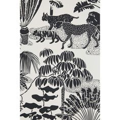 Aimee Wilder Jungle Dream Wallpaper ($228) ❤ liked on Polyvore featuring home, home decor, wallpaper, gold metallic wallpaper, gold home accessories, gold wallpaper, black white home decor and jungle wallpaper
