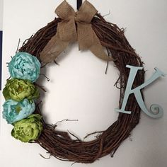 A personal favorite from my Etsy shop https://www.etsy.com/listing/220069722/spring-initial-wreath-leave-not-to