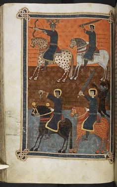 n 11th century image of the Four Horseman of the Apocalypse http://www.washingtonpost.com/blogs/worldviews/wp/2014/10/31/happy-halloween-here-are-7-spooky-images-from-the-middle-ages/ …