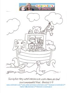 Noahs Ark Coloring Sheet You Can Have Children Color This Page And Start To Memorize