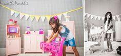 Kids photo, brincando de casinha