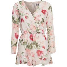 Flower Power Jumpsuit (385 PEN) ❤ liked on Polyvore featuring jumpsuits, jump suit, print jumpsuit, pink jumpsuit and patterned jumpsuit