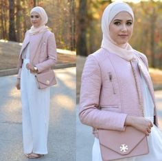 palazzo pant hijab look, Winter hijab street styles by leena Asaad http://www.justtrendygirls.com/winter-hijab-street-styles-by-leena-asaad/