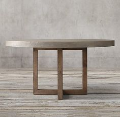 Round Concrete Dining Table Heston Round Dining Table in case replacing the orange marble breakfast table is an option
