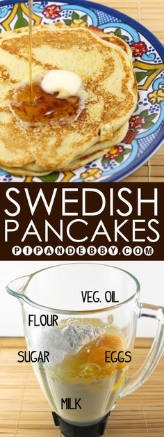 Grandma Linnea's Famous Swedish Pancakes | This is my husband's grandmother's pancake recipe that is a CHERISHED family recipe. #breakfast