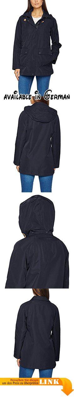 Geox Damen Parka Jacke WOMAN JACKET W7220JT0351, Einfarbig, Gr. 42 (Herstellergröße: 48), Blau (DARK NAVY F4300). Haltbares Gewebe. Wasserabweisende Ausrüstung #Apparel #OUTERWEAR