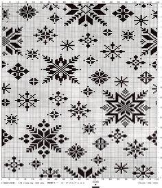 Her er det bare fantasien som setter grenser for hva de kan… Motif Fair Isle, Fair Isle Chart, Fair Isle Pattern, Cross Stitch Charts, Cross Stitch Embroidery, Cross Stitch Patterns, Knitting Charts, Knitting Stitches, Knitting Designs