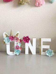 Unicorn Letters/ Unicorn First Birthday/ Unicorn Decorations/