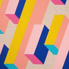 It's time for your walls to shape up. It's time for your walls to shape up. Tape Painting, Painters Tape Art, Masking Tape Art, Abstract Geometric Art, Geometric Shapes Art, Geometric Poster, Diy Canvas Art, Art Projects, Artwork