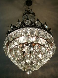 I am obsessed with antique chandeliers!