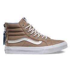 Chambray Dots SK8-Hi Slim Zip   Shop Classic Shoes at Vans