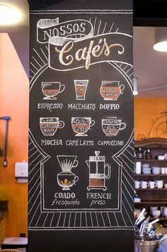 38 ideas for design restaurant ideas chalk board Coffee Shop Menu, Small Coffee Shop, Coffee Store, Coffee Shop Design, Coffee Cafe, Cafe Menu Design, Restaurant Menu Design, Cafe Interior Design, Restaurant Ideas