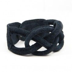 Naval Knot Small darkblue suede