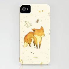 Lonely Winter Fox  by Teagan White  iPhone Case / iPhone (4S, 4) Can you tell I like foxes??