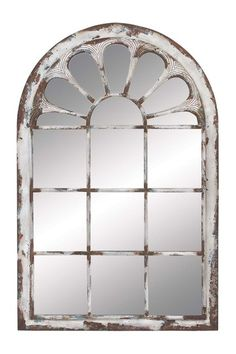 White Washed Metal Wall Panel Mirror on HauteLook