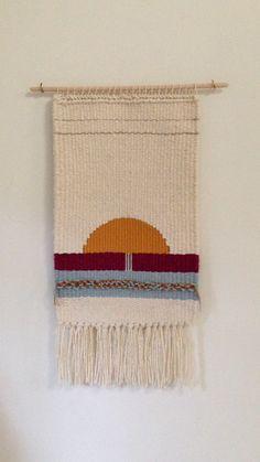 Handmade weaving   woven wall hanging   horizon