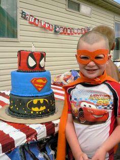 Superhero Cake. For John. My fiance. Who is a grown man.
