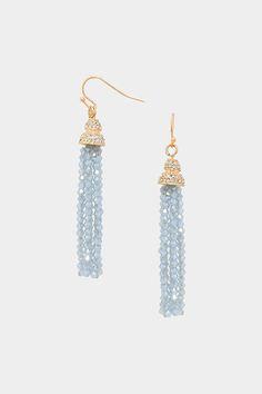 Crystal Rhea Earrings in Pale Aspen Blue on Emma Stine Limited