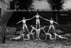 Teamwork divides the work and doubles the success