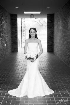 A classic Oscar de la Renta dress from the bridal suite at Neiman Marcus