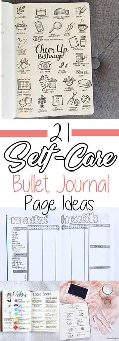 Have you tried these self-care bullet journal ideas yet? Bullet Journal Inspo, My Journal, Journal Pages, Bullet Journal Doodles Ideas, Bullet Journal Layout Ideas, Bullet Journal Yearly Spread, Bullet Journal Project Planning, Bullet Journal Health, Bullet Journal Prompts