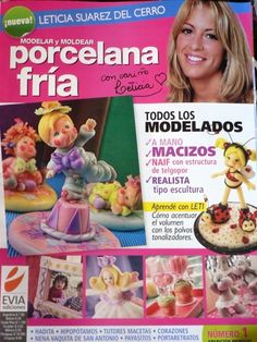 Items similar to Cold Porcelain magazine 1 by Leticia Suarez del Cerro (Spanish) Projects Step by Step - Porcelana fria - Biscuit - Clay on Etsy Diy And Crafts, Crafts For Kids, Arts And Crafts, Paper Crafts, Debbie Brown, Spanish Projects, Project Steps, Magazine Crafts, Painted Books