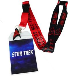 Star Trek Red Member Lanyard with ID Badge Holder and Charm