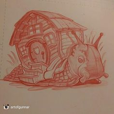 A mighty fine piece from @artofgunnar check out their page and don't forget to follow @artofgunnar  #snail  #mobilehome#inktober #ink #art #illustration #drawing #draw #picture #artist #sketch #sketchbook #paper #pen #pencil #artsy #instaart #beautiful #instagood #gallery #masterpiece #creative #photooftheday #instaartist #graphic #graphics #artoftheday