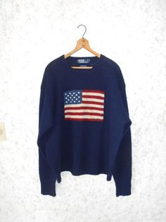 Vintage Rare Polo Ralph Lauren American Flag by CoolDogVintage