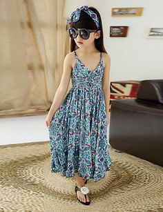 Girl's Cotton/Polyester Fashion Floral Straped Beach Loose Overall & Jumpsuit 3819050 2017 – $22.99
