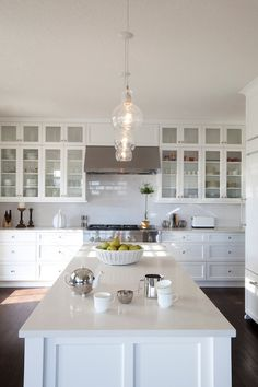 R Cartwright Design - kitchens - white kitchen cabinetry, shaker cabinets, shaker kitchen, white shaker kitchen cabinets, hardwood floors, d...