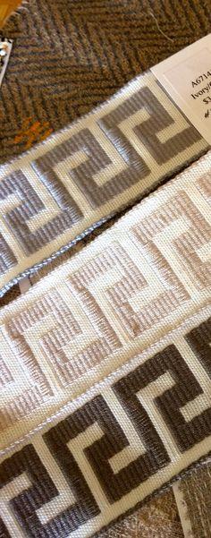 "New decorative tapes in ""Greek Key"" motif in Sunbrella fibers. @sunbrella @theMTCompany"