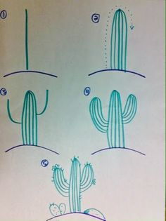How to draw a Cactus...